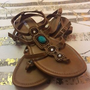 Sandals with Jewel embellishments